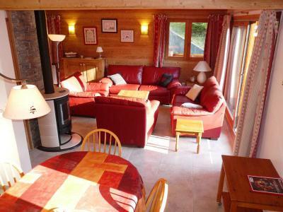 Vacances en montagne Appartement duplex 4 pièces 8 personnes (10 R) - Résidence le Cristal - Méribel - Séjour