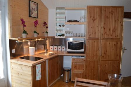 Vacances en montagne Appartement 3 pièces mezzanine 6 personnes - Résidence le Dahu - Champagny-en-Vanoise - Kitchenette