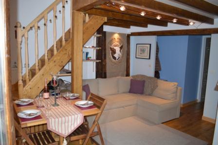Vacances en montagne Appartement 3 pièces mezzanine 6 personnes - Résidence le Dahu - Champagny-en-Vanoise - Séjour