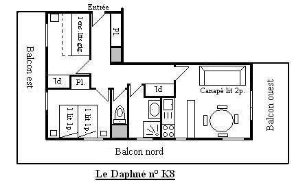 Location Méribel-Mottaret : Résidence le Daphné été
