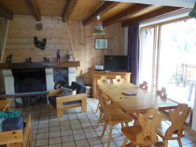 Vakantie in de bergen Chalet 4 kamers 8 personen (A012P) - Résidence le Hameau des Rochers - Champagny-en-Vanoise - Open haard