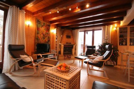 Vakantie in de bergen Chalet 7 kamers 12 personen (IsardCH) - Résidence le Hameau des Rochers - Champagny-en-Vanoise - Woonkamer