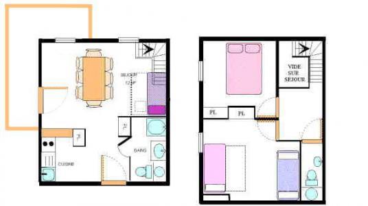 Vacances en montagne Appartement duplex 3 pièces 8 personnes (30) - Résidence le Petit Mont Cenis - Termignon-la-Vanoise - Plan