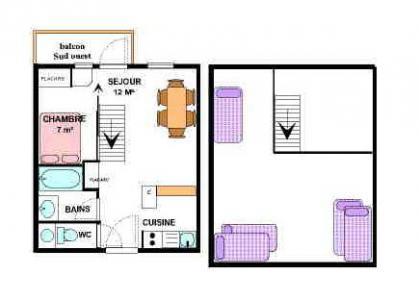 Vacances en montagne Appartement 2 pièces mezzanine 6 personnes (31) - Résidence le Petit Mont Cenis - Termignon-la-Vanoise