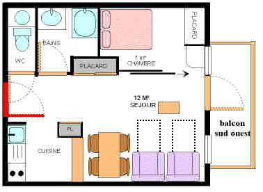 Vacances en montagne Appartement 2 pièces 4 personnes (A021) - Résidence le Petit Mont Cenis - Termignon-la-Vanoise