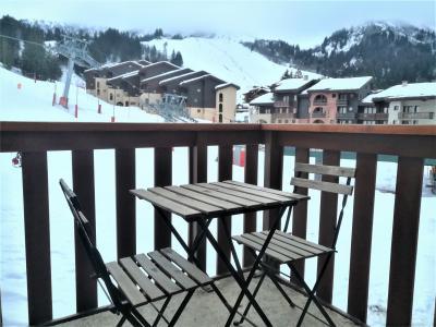 Vacances en montagne Appartement 2 pièces 5 personnes (019) - Résidence le Pierrafort - Valmorel - Balcon