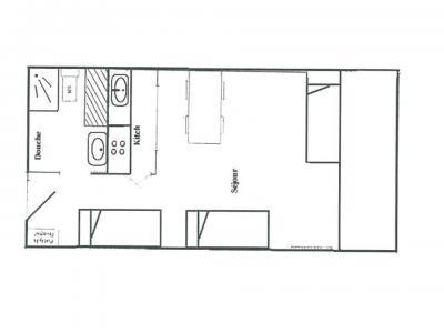 Vacances en montagne Studio 4 personnes (029) - Résidence le Pramecou - Tignes - Plan