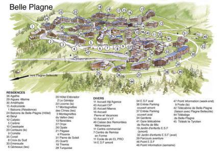 Holiday in mountain resort Résidence le Quartz - La Plagne - Plan