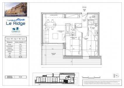 Vacances en montagne Appartement 3 pièces 6 personnes (102) - Résidence le Ridge - Les Arcs - Plan