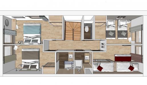 Vacances en montagne Appartement 6 pièces 12 personnes (115) - Résidence le Ridge - Les Arcs - Plan