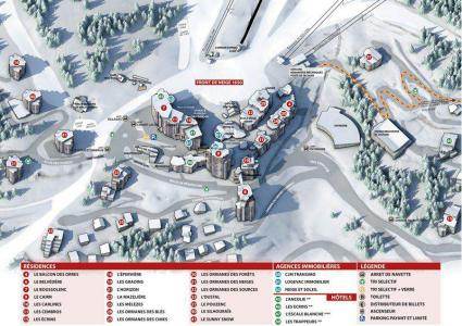 Holiday in mountain resort 2 room apartment 6 people (334) - Résidence le Silhourais - Les Orres - Plan