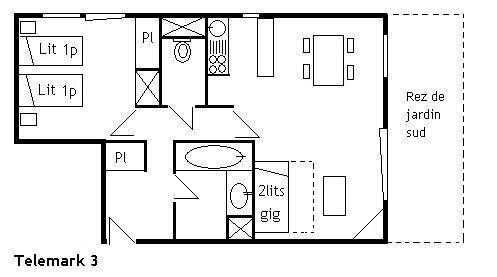 Vacances en montagne Appartement 2 pièces 4 personnes (3) - Résidence le Télémark - Méribel - Plan