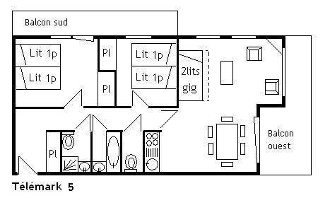 Vacances en montagne Appartement 3 pièces 6 personnes (5) - Résidence le Télémark - Méribel