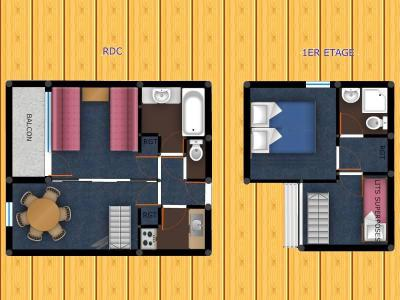 Vacances en montagne Appartement duplex 3 pièces 6 personnes (039) - Résidence le Zig Zag - Montchavin La Plagne