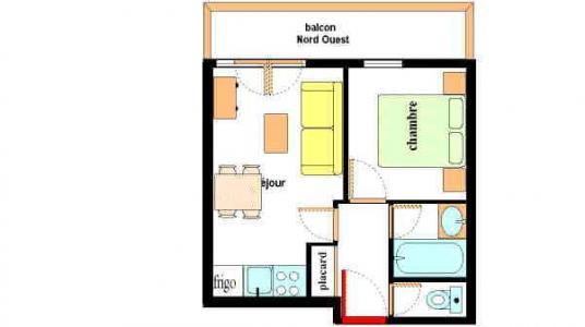 Vacances en montagne Appartement 2 pièces 4 personnes (A107) - Résidence les Alpages - Val Cenis - Plan