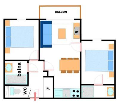 Vacances en montagne Appartement 3 pièces 6 personnes (217) - Résidence les Alpages - Val Cenis - Plan