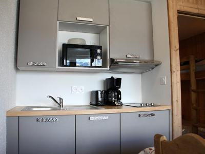 Holiday in mountain resort Studio 4 people (R07) - Résidence les Aravis - Les Menuires - Kitchenette