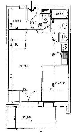 Vacances en montagne Appartement 2 pièces cabine 6 personnes (110) - Résidence les Balcons d'Olympie - Les Menuires