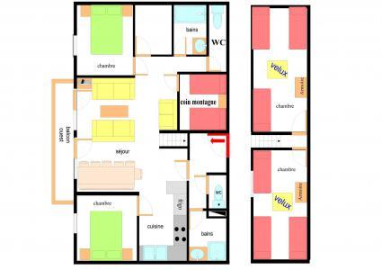 Vacances en montagne Appartement duplex 5 pièces 12 personnes (BAA205) - Résidence les Balcons de Val Cenis le Haut - Val Cenis - Plan