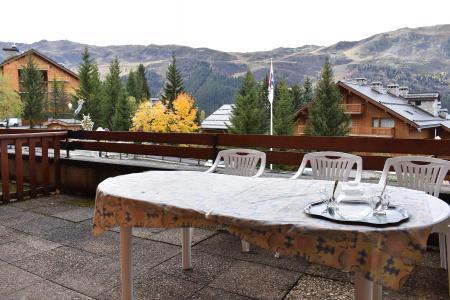 Location au ski Studio 6 personnes (0E1) - Résidence les Carlines - Méribel - Extérieur été
