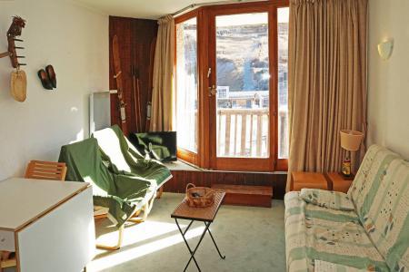Holiday in mountain resort Studio sleeping corner 4 people (011) - Résidence les Carlines - Les Orres - Living room