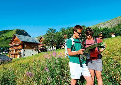 Location au ski Residence Les Chalets De La Porte Des Saisons - Saint Sorlin d'Arves - Extérieur été