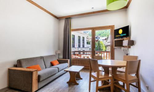 Аренда на лыжном курорте Квартира студия для 3 чел. (Confort 18m²) - Résidence les Chalets de Solaise - Maeva Home - Val d'Isère - Салон