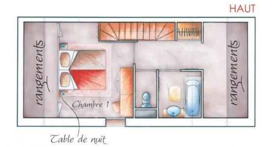 Vacances en montagne Appartement duplex 2-3 pièces 6 personnes (002) - Résidence les Chalets des Rennes - Vars - Plan