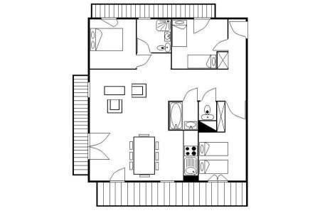 Urlaub in den Bergen 4-Zimmer-Appartment für 8 Personen (25) - Résidence les Cristaux - Les Menuires