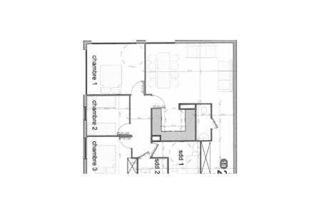 Urlaub in den Bergen 4-Zimmer-Appartment für 8 Personen (20) - Résidence les Cristaux - Les Menuires