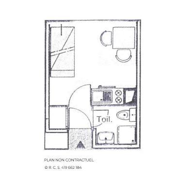 Vacances en montagne Studio 2 personnes (1306) - Résidence les Dorons - Les Menuires