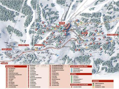Holiday in mountain resort 2 room apartment sleeping corner 6 people (471) - Résidence les Flocons - Les Orres - Plan