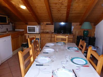 Urlaub in den Bergen 3-Zimmer-Berghütte für 8 Personen (105) - Résidence les Jardins Alpins - Saint Gervais - Tisch