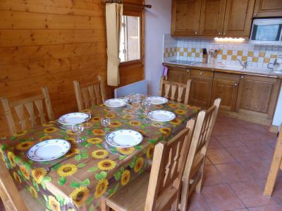 Vacances en montagne Appartement duplex 2 pièces 6 personnes (FLOR6) - Résidence les Lapons - Les Contamines-Montjoie - Table