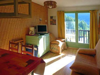 Holiday in mountain resort Studio 4 people (155) - Résidence les Orrianes des Blés - Les Orres - Living room