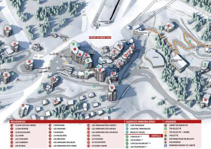 Holiday in mountain resort Studio 4 people (181) - Résidence les Orrianes des Cîmes - Les Orres - Plan