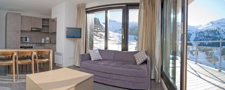Vacances en montagne Résidence les Terrasses de Veret - Flaine - Coin séjour