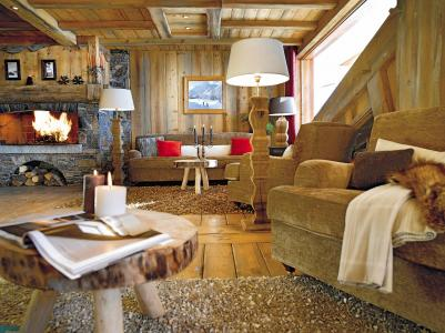 Vacances en montagne Résidence P&V Premium les Alpages de Reberty - Les Menuires - Cheminée