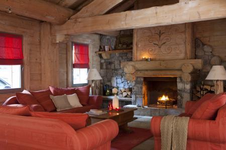 Vacances en montagne Résidence P&V Premium les Fermes du Soleil - Les Carroz - Cheminée