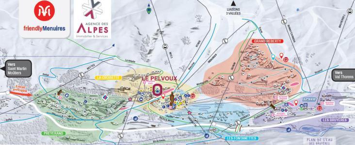 Vacances en montagne Résidence Pelvoux - Les Menuires - Plan