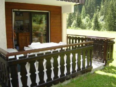Rent in ski resort 2 room apartment sleeping corner 4 people (PNG009D) - Résidence Perce Neige - Châtel - Summer outside