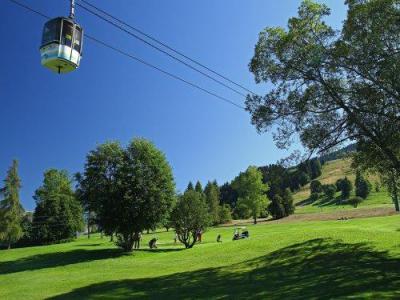 Аренда на лыжном курорте Résidence Pierre & Vacances le Mont d'Arbois - Megève - летом под открытым небом