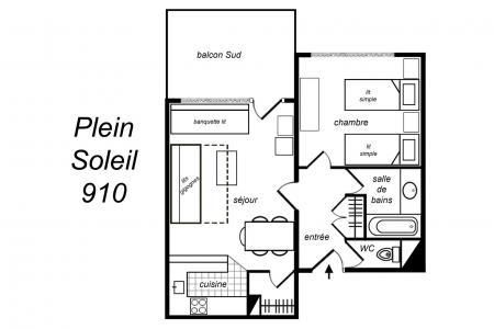 Vacances en montagne Appartement 2 pièces 5 personnes (910) - Résidence Plein Soleil - Méribel-Mottaret