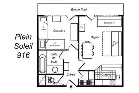 Vacances en montagne Appartement 2 pièces 5 personnes (916) - Résidence Plein Soleil - Méribel-Mottaret