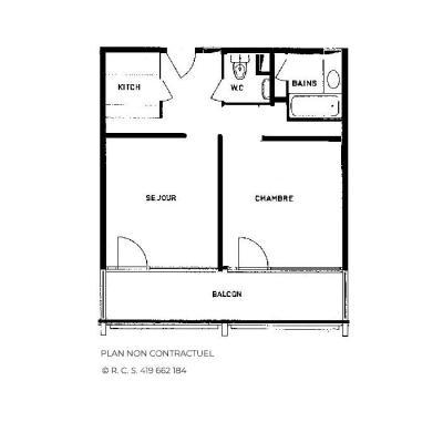 Vacances en montagne Appartement 2 pièces 6 personnes (118) - Résidence Vanoise - Les Menuires - Chambre