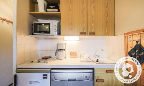 Wakacje w górach Studio kabina 4 osoby (Confort 26m²-2) - Résidence Verseau - Maeva Particuliers - Flaine - Aneks kuchenny