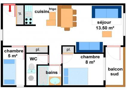 Vacances en montagne Appartement 3 pièces 7 personnes (AR21) - Résidences du Quartier Napoléon - Val Cenis - Plan