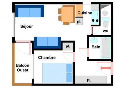 Vacances en montagne Appartement 2 pièces 5 personnes (034) - Résidences du Quartier Napoléon - Val Cenis