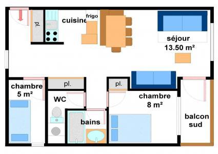 Vacances en montagne Appartement 3 pièces 7 personnes (AR11) - Résidences du Quartier Napoléon - Val Cenis