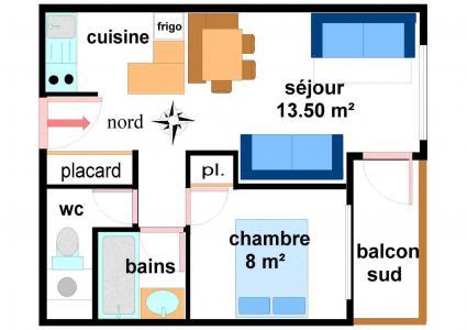 Vacances en montagne Appartement 2 pièces 5 personnes (001) - Résidences du Quartier Napoléon - Val Cenis